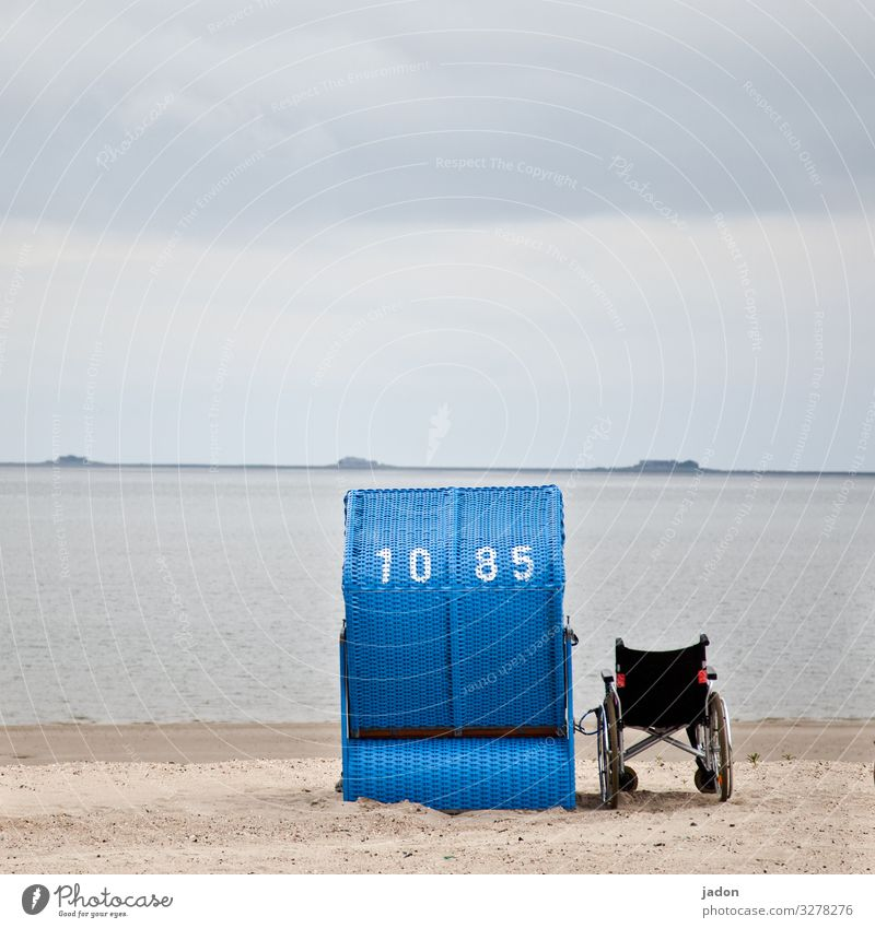 farsighted | at sea. Healthy Senior citizen Life Environment Nature Landscape Sand Water Sky Beautiful weather Waves Coast Beach Ocean Digits and numbers