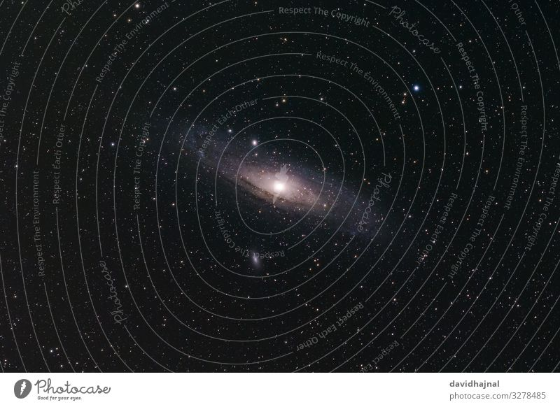 Andromeda Galaxy Telescope Technology Science & Research Astronautics Astronomy Art Environment Nature Sky Sky only Cloudless sky Night sky Stars Autumn M31 Fog