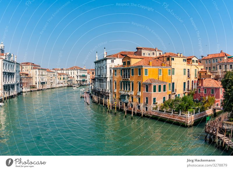 view to the Canale Grande in Venice Beautiful Vacation & Travel Tourism Sky Building Architecture Watercraft Historic Canal Grande background Europe European