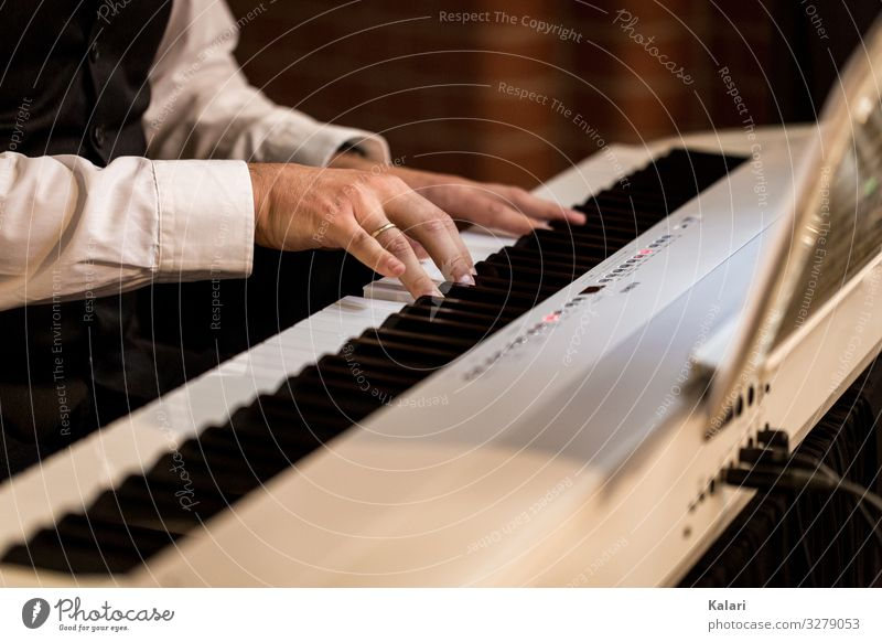 Pianist plays classical music on a piano keyboard Music Piano Keyboard Hand Pro game tool musician black White Musical Classical Sound Fingers player Jazz