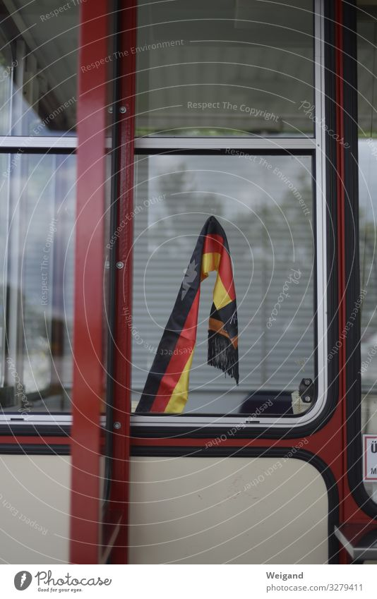 GERMANY Window Red Germany Politics and state Flag German Flag Retirement Coalition Turnaround Colour photo Subdued colour Exterior shot Deserted