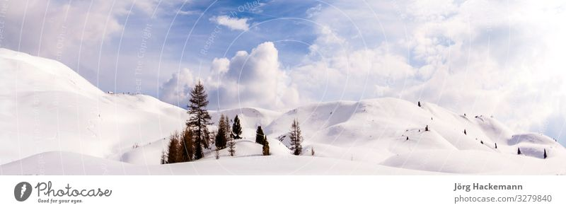 Dolomite mountains, Sella pass Beautiful Harmonious Tourism Winter Snow Mountain Nature Landscape Sky Clouds Rock Alps Skyline Stone Natural Blue Green White