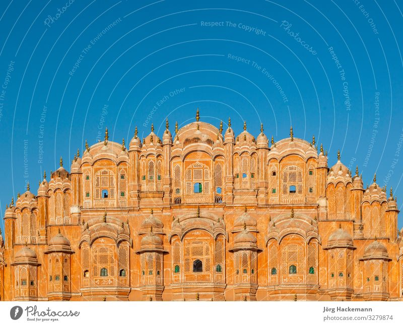 Hawa Mahal, the Palace of Winds, Jaipur, Rajasthan Vacation & Travel Tourism Culture Landscape Building Architecture Facade Stone Old Pink Red Tradition Ancient