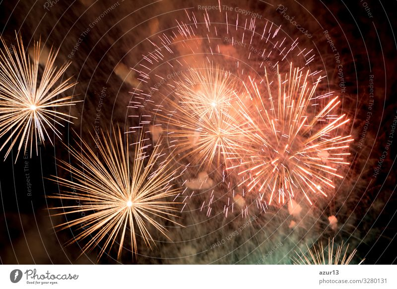 Luxury fireworks event sky show with colour big bang stars Lifestyle Leisure and hobbies Night life Entertainment Party Event New Year's Eve Fairs & Carnivals