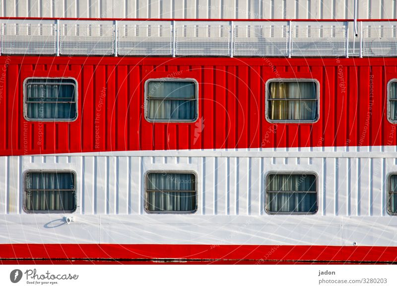 White Red Window Wall (building) Wall (barrier) Facade Living or residing Beautiful weather Break Harbour Wanderlust Navigation Curtain Cruise Dream house