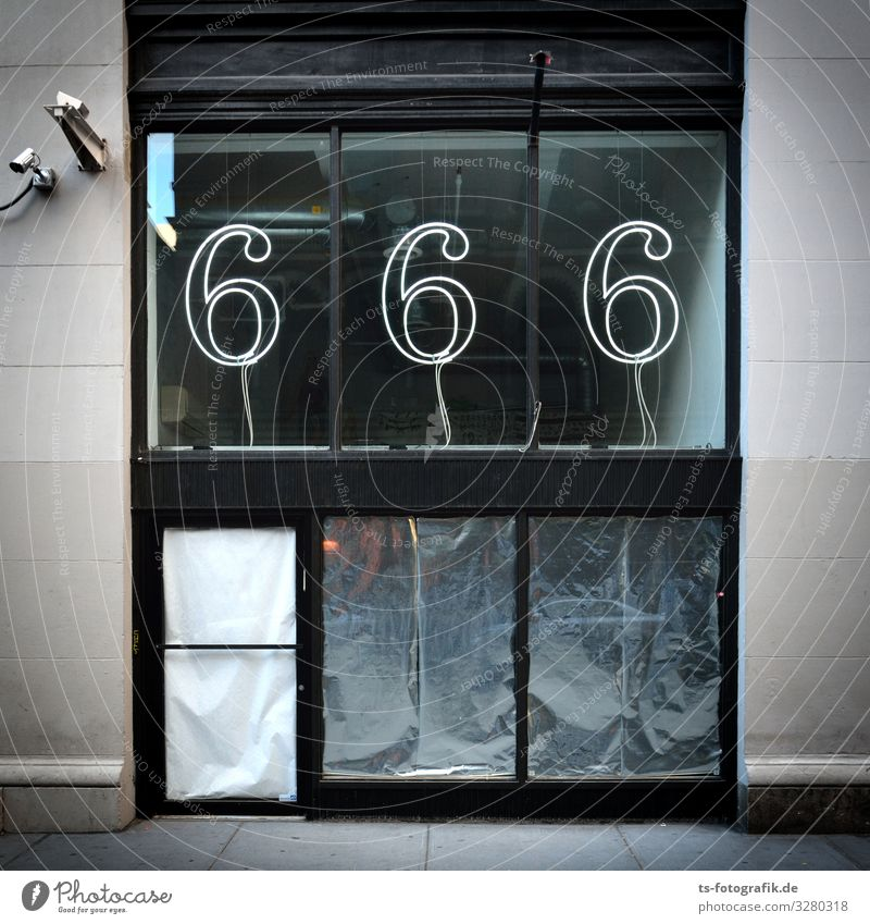 The Devil's Shop? Shopping Money Shop window Store premises House (Residential Structure) Manmade structures Building Facade Window Sign Characters