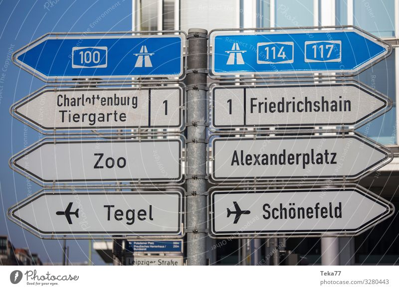 #Berlin signs Town Capital city Sign Signs and labeling Signage Warning sign Road sign Adventure Downtown Berlin Colour photo Exterior shot