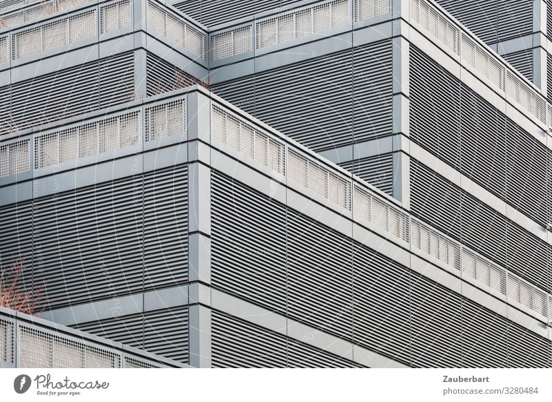 Town Loneliness Wall (building) Cold Berlin Business Building Wall (barrier) Stone Facade Gray Metal High-rise Arrangement Planning Fear of the future