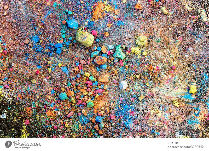 Coloured street chalk Chalk Asphalt variegated Infancy Many Joy havoc Childhood memory Children's game Painting (action, artwork) Street painting Creativity