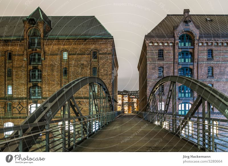 Hamburg famous Speicherstadt Beautiful Vacation & Travel Tourism Sightseeing House (Residential Structure) River Town Downtown Harbour Bridge Building