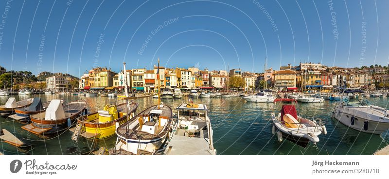 Cassis, french town situated on the Mediterranean coast Vacation & Travel Ocean Restaurant Coast Harbour Facade Yacht Sailboat Watercraft Historic France