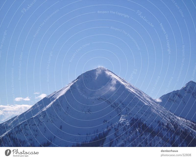 The Schneeberg Loneliness Mountain mountainous country Snow Blue Sky Alps Beautiful