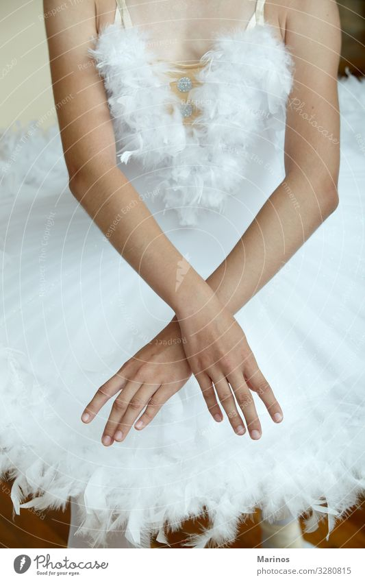 Closeup of ballerina's hands while dancing the Swan Lake. Elegant Beautiful Dance Human being Woman Adults Hand Art Dancer Ballet Fashion Footwear White