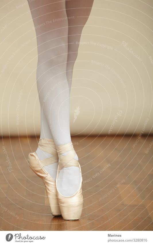 Ballerina's legs in pointe. Elegant Beautiful Dance Human being Woman Adults Art Dancer Ballet Fashion Footwear White ballerina Beauty Photography girl young