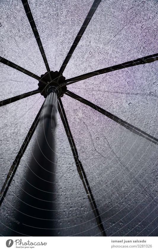 black umbrella in rainy days Umbrella Object photography Black Background picture Still Life Minimal Rain Water Wet Protection Weather Seasons Drop