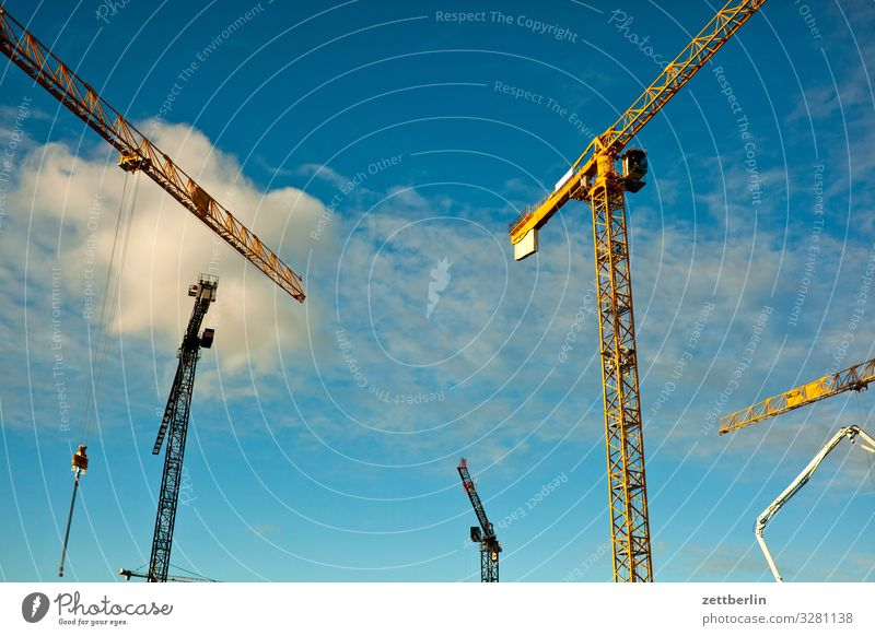 construction site Construction site large construction site Crane slewing crane revolving tower crane Flat (apartment) House hunting House location