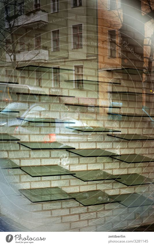 clearance sale Interior design Window Store premises Trade Grating Glass Insolvency Consumption Opening time Empty Shelves Shop window Window pane Slice