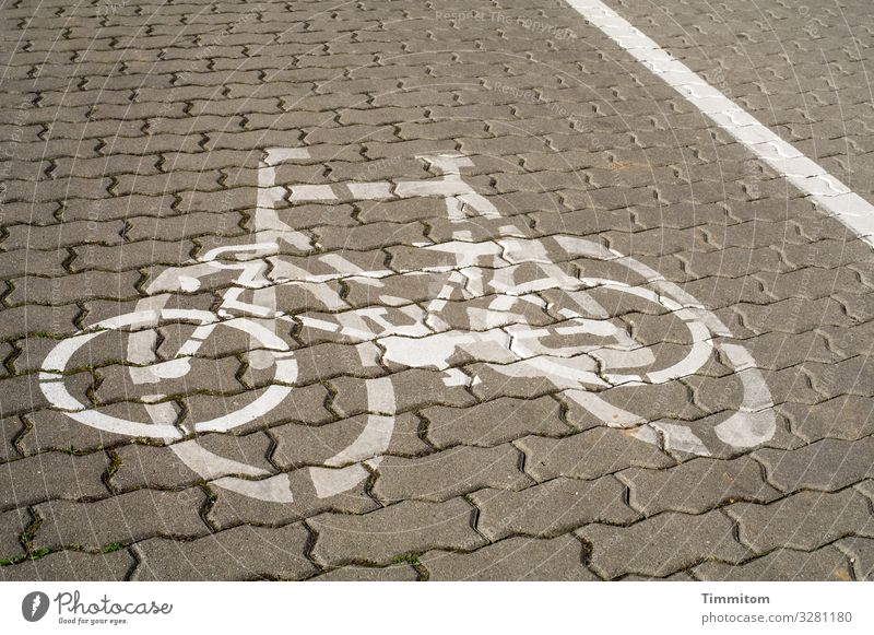 Colour Black Emotions Stone Brown Gray In pairs Transport Cycling Simple Sign Irritation Paving stone Cycle path