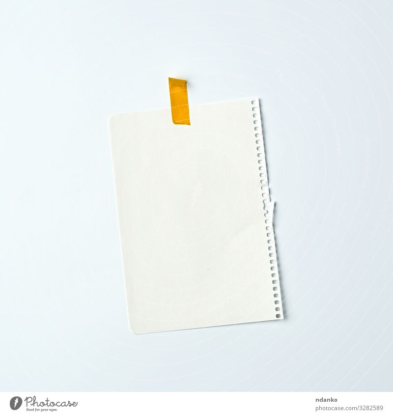 white crumpled sheet of paper Design Paper Write Yellow White Advertising notebook education Spiral Adhesive backdrop background Blank Cardboard communication
