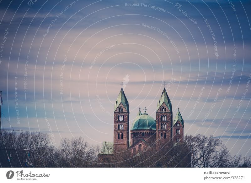 The Imperial Cathedral of Speyer Rhineland-Palatinate Small Town Old town Deserted Church Dome Crucifix Historic Tall Beautiful Blue Brown Moody Hope Belief
