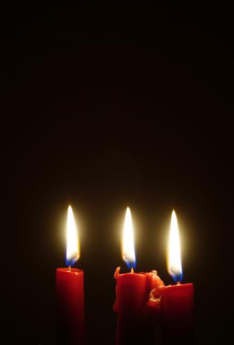 Trinidad Candle Candlelight Candlelit ambience Flame Candlewick Sign Illuminate Together Red Calm Hope Religion and faith Burn 3 Christmas & Advent Colour photo