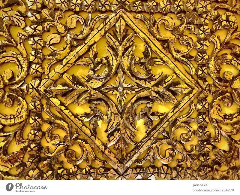 symmetrie | goldwert Muster floral Symmetrie Gold goldfarben Dekoration Harmonie