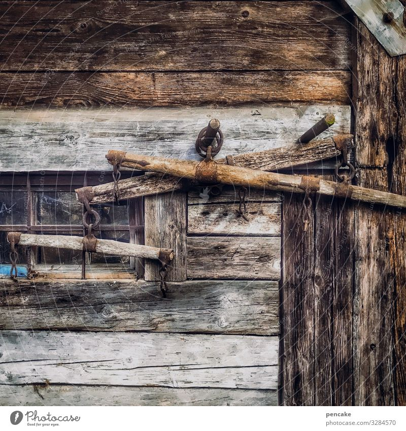 Old Dark Architecture Wood Work and employment Authentic Poverty Historic Sign Agriculture Farm Hut Wooden board Vintage Museum Hang