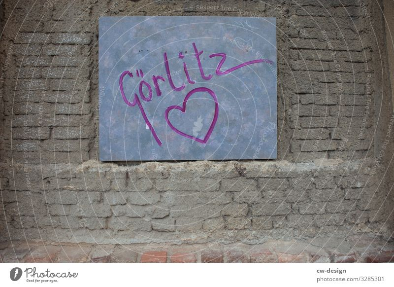 Expression of love - Görlitz with heart goerlitz Heart Heart-shaped Sincere Heartrending heart-shaped Characters Love Colour photo Infatuation Sign