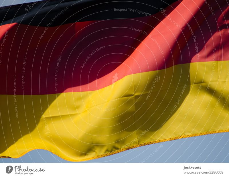 black red gold Wind Germany Stripe Symbol of the state Original Blue Gold Red Black Might Design Ease Symmetry Across Cloth Blow Timeless Detail Abstract Shadow