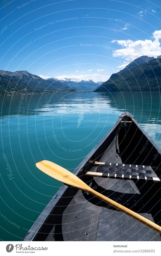 Canoeing on the lake of Brienz Vacation & Travel Trip Adventure Freedom Expedition Summer Mountain Transport Boating trip On board Movement Driving To enjoy