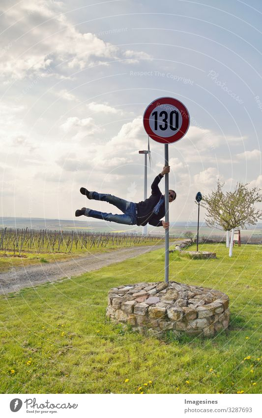 Speed limit Germany 130 km/h pole dance Sports Human being Masculine Young man Youth (Young adults) Body 30 - 45 years Adults 45 - 60 years Transport