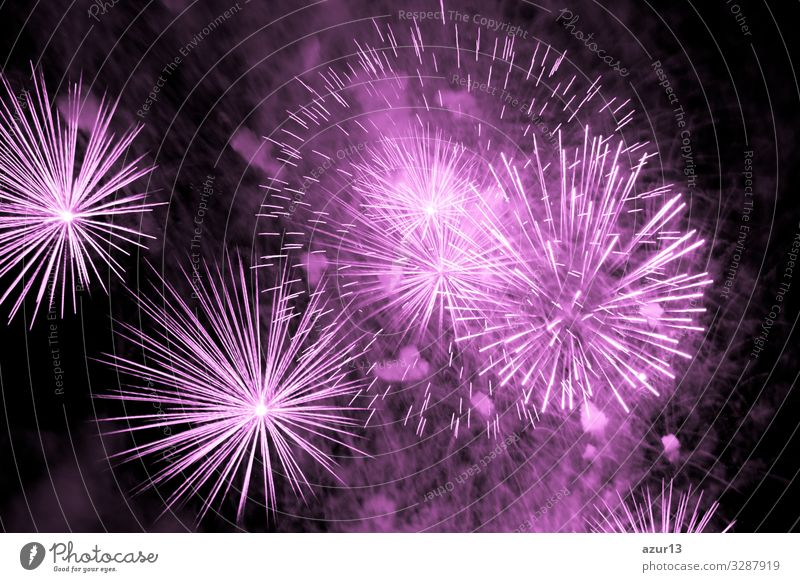 Luxury fireworks event sky show with pink big bang stars Lifestyle Night life Entertainment Party Event Feasts & Celebrations New Year's Eve Fairs & Carnivals