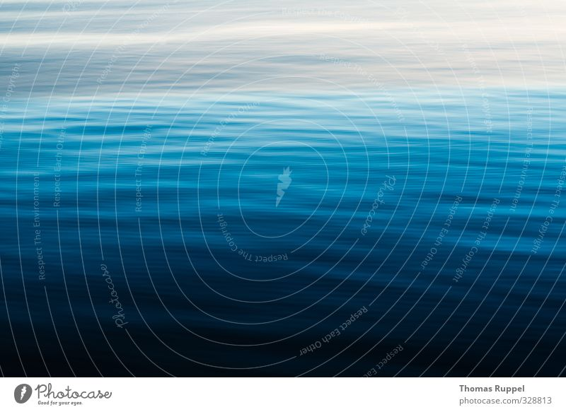 Blue Water Nature Elements Waves Baltic Sea Ocean Movement Dark Simple Fluid Bright Gray Black Moody Contentment Cool (slang) Power Colour photo Subdued colour