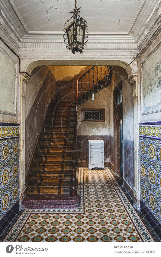 Old House Style Design House (Residential Structure) Decoration Art Work of art Culture Village Old town Palace Building Architecture Stairs Stone Wood Historic
