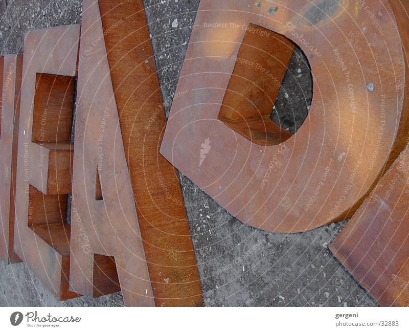 Letters (alphabet) Steel Obscure Rust D Latin alphabet