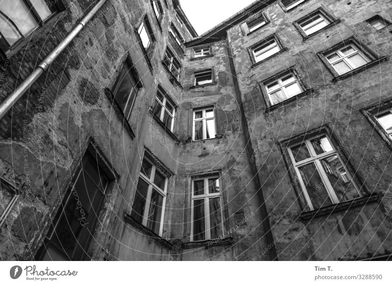Backyard Berlin Prenzlauer Berg Town Capital city Downtown Old town Deserted House (Residential Structure) Manmade structures Building Architecture
