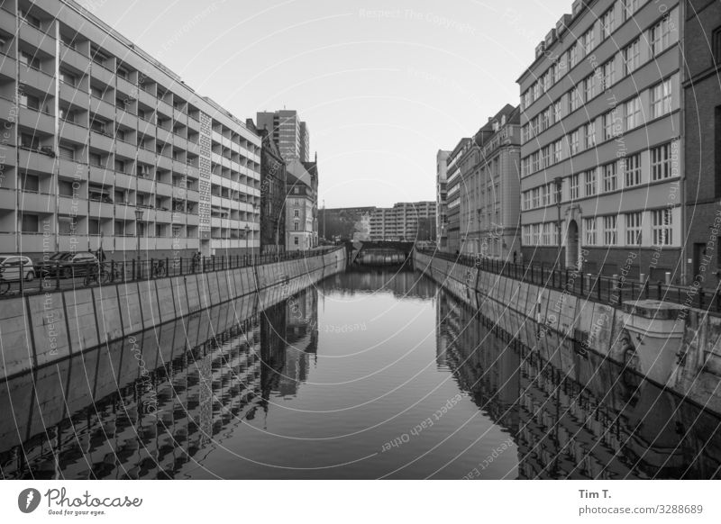Berlin Mitte Downtown Berlin Town Capital city Skyline Deserted House (Residential Structure) Manmade structures Building Loneliness Perspective Whimsical Water