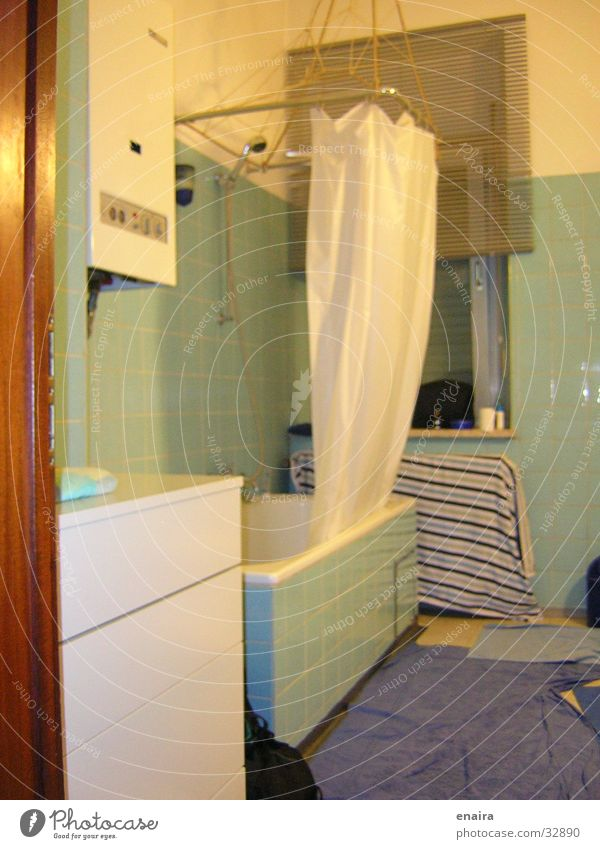bathroom Bathroom Green Yellow Historic Shower (Installation) Detail Blue