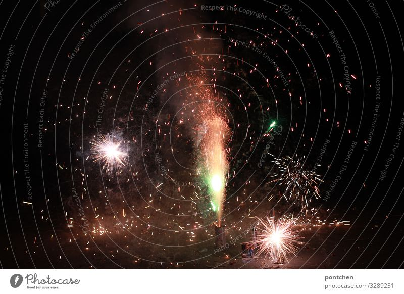 Joy Winter Happy Feasts & Celebrations Hope Surprise New Year's Eve Firecracker Explosion Air pollution
