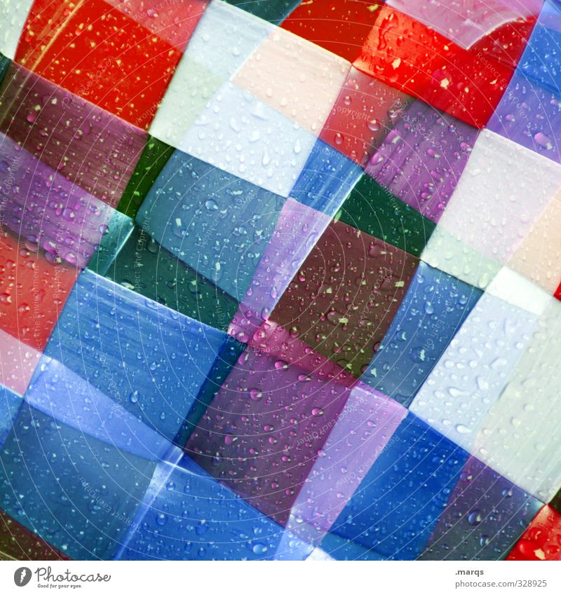 Blue White Red Style Background picture Line Art Exceptional Elegant Design Lifestyle Modern Crazy Decoration Drops of water Cool (slang)