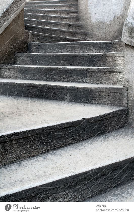 pe Architecture Stairs Old Sharp-edged Gray Career Go up Stone steps Colour photo Exterior shot Deserted