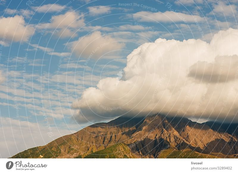 cloud over mount, japan Vegetable Calm Mountain Nature Plant Elements Earth Sky Clouds Climate Weather Beautiful weather Grass Bushes Park Hill Natural Blue