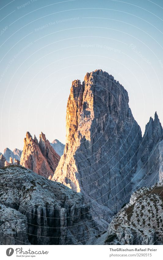 Sunrise at the Auronzo hut Peak South Tyrol Hiking Vantage point Mountain Alps Nature Landscape Panorama (View) Dolomites Rock Relaxation Sky Vacation & Travel