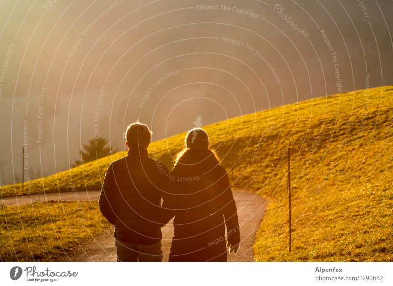 Woman Human being Man Green Joy Adults To talk Love Feminine Emotions Happy Couple Together Friendship Moody Going