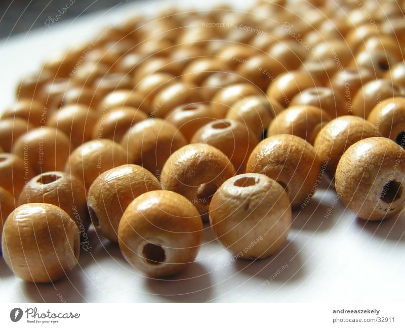 wooden beads Wood Wooden bead Ochre Craft (trade) Round Rustic Pearl Bright Coil rolling