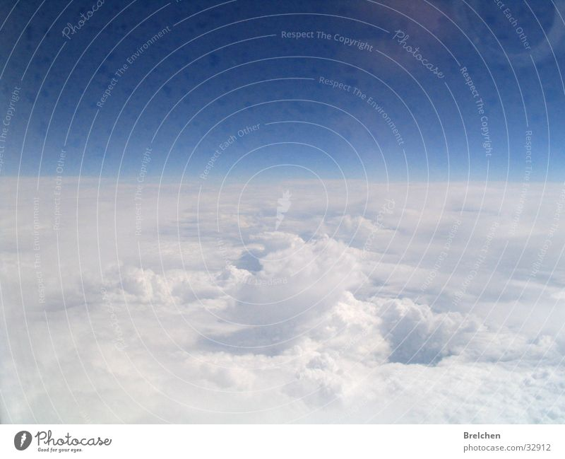 Nature Sky White Blue Clouds Far-off places Air Horizon Absorbent cotton