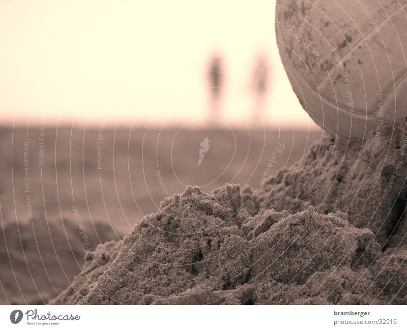 Volleyball in the sand Beach Leisure and hobbies Sand Volleyball (sport) Ball