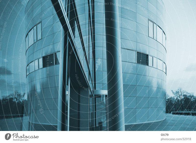 Blue Architecture Dusk Saxony Dresden Processed Transparent Factory (VW)