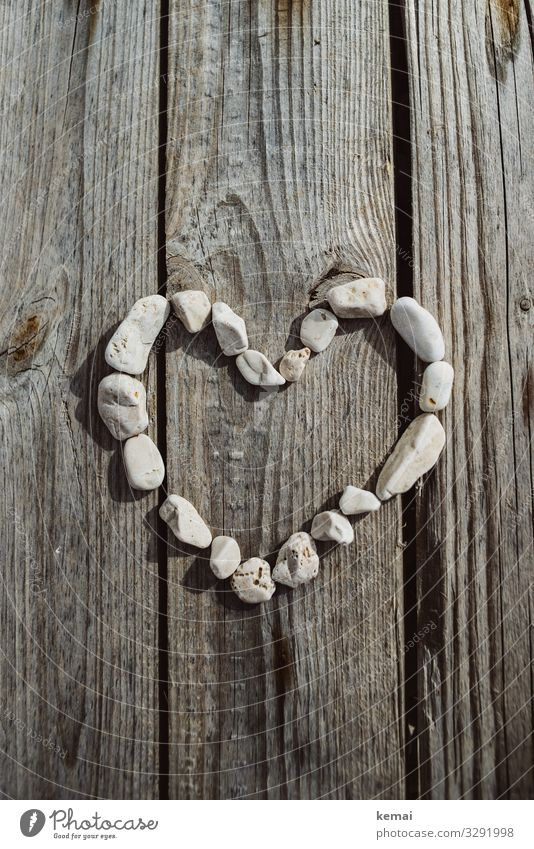 Beautiful White Lifestyle Wood Love Natural Stone Together Gray Friendship Contentment Bright Heart Authentic Romance Sign