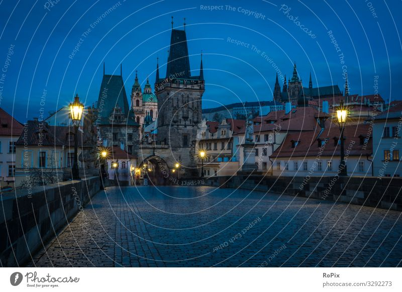 Historic skyline of Prague. Lifestyle Style Relaxation Meditation Leisure and hobbies Vacation & Travel Tourism Sightseeing City trip Economy Services Art